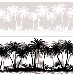 seamless tropical forest vector image
