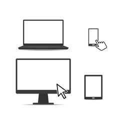 set digital devices vector image