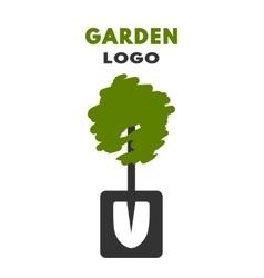 Shovel tree logo vector image