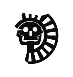 Skull god death aztecs icon vector