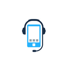 smartphone podcast logo icon design vector image