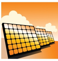 solar panels2 vector image