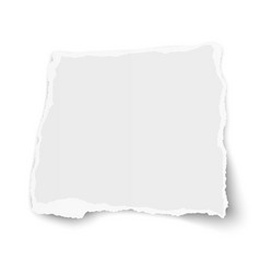 Square torn paper tear with soft shadow isolated vector