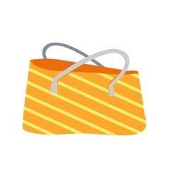 Striped summer beach bag vector