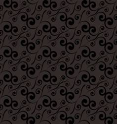 swirl repeat black vector image