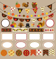 Thanksgiving bunting clipart vector