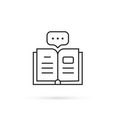 Thin line book like audiobook icon vector