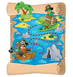 Treasure map topic image 2 vector
