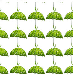trendy pattern with green umbrella seamless vector image