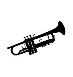 Trumpet silhouette vector