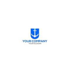 U anchor logo design vector