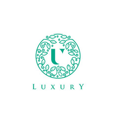 U letter logo luxurybeauty cosmetics logo vector