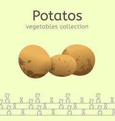 Vegetables collection image vector