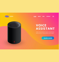 voice assistant smart home sound recognition vector image