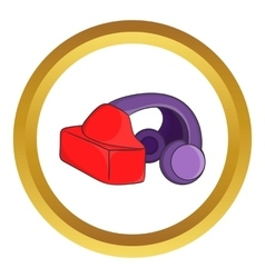 Vr headset icon vector