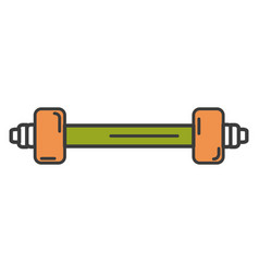 weight lifting gym icon vector image