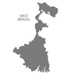 West bengal india map grey vector