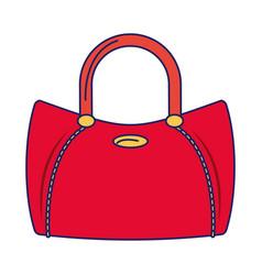 Women fashion bag accesorie cartoon isolated blue vector