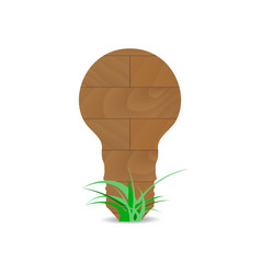 Wooden form lamp idea vector