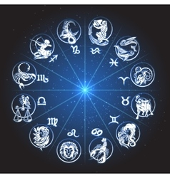 Zodiac Circle Horoscope vector