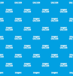 Zombie horror pattern seamless blue vector