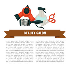beauty salon promotional poster with special work vector image vector image