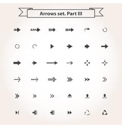 Big black set arrows vector image
