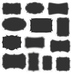 boarders and frames basic set vector image