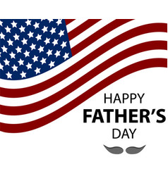 happy fathers day lettering vector image