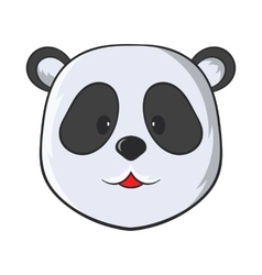 Head of panda bear icon cartoon style vector image