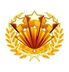 Laurel emblem vector image