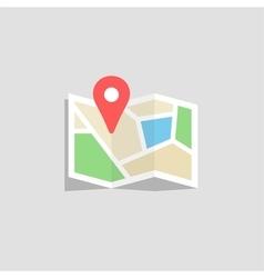 Location map icon vector image
