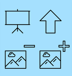 picture presentation icons vector image