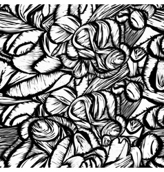 Seamless shapes hand-drawn pattern spots vector image