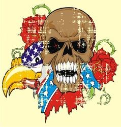 VS 5floral skull vector image