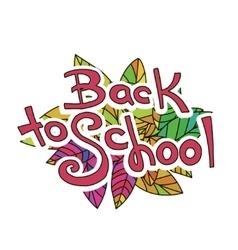Back to School Sketchy Doodles vector image vector image