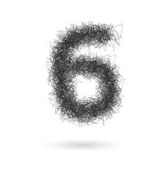 scribble numbers vector image