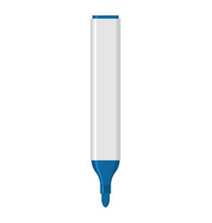 Blue marker isolated office stationery school vector