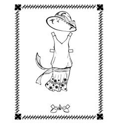 dress 20-30 years vector image