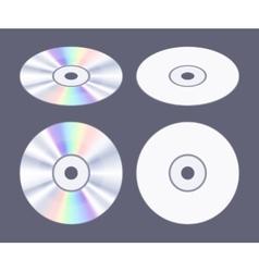 Isometric flat CD-DVD disk vector image