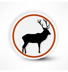 Prohibited from shooting elk red mark on a white vector