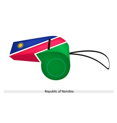 A Whistle of The Republic of Namibia vector image
