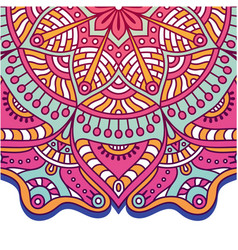 abstract flower mandala design pink tone im vector image