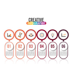 abstract infographics number 6 options template vector image