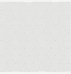 Abstract seamless pattern of modern pentagon vector