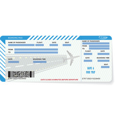 airline boarding pass ticket concept of journey vector image