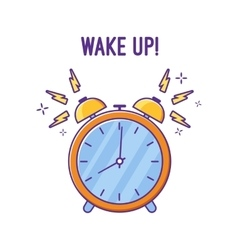 Alarm clock is ringing waking somebody up vector image
