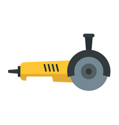 Angle grinder icon flat style vector