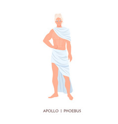 apollo or phoebus - god or deity art sun and vector image