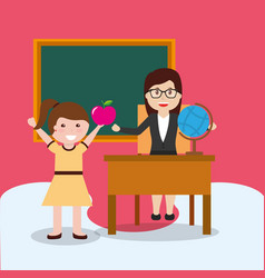 back to school people vector image
